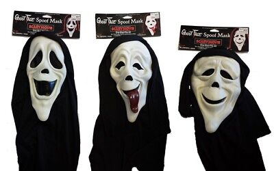Ghostface Scary Movie Mask - Halloween Ghost Face Fancy Dress Accessory