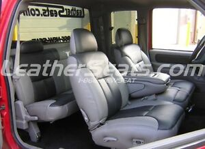 95 98 chevy silverado sierra crew cab leather seat covers. Black Bedroom Furniture Sets. Home Design Ideas