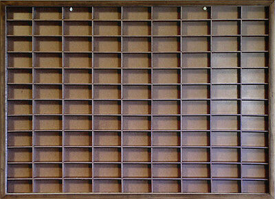Matchbox - Hot Wheels Wall Display Case W/COVER1/64 scale Hand Made Walnut Stain