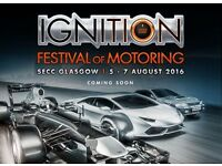 4 X Sat 6th Aug tickets for Ignition Festival Glasgow