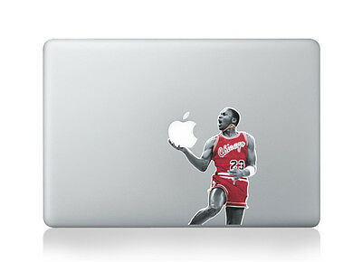 "Michael Jordan Chicago #23 Sticker Vinyl Decal for Macbook Air/Pro/Retina 13"""