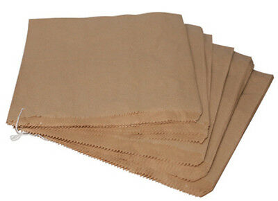 1000x Food Takeaway Bakery Strung Brown Paper Bags 7x7