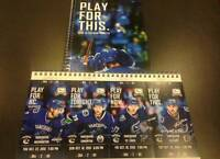 Vancouver Canucks Tickets To Various Games Aisle Row 2 Hard Copy