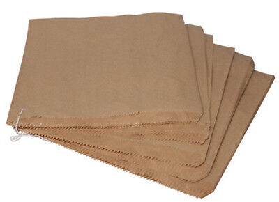 100x Strung Brown Paper Bags Size 10x10
