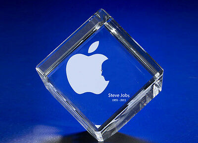 New Unique Steve Jobs Memorial Crystal Jewel Cube