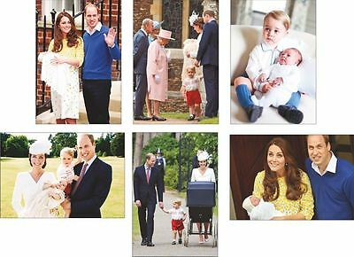 Duke and Duchess of Cambridge Prince George Princess Charlotte Postcard Set