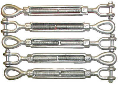 Turnbuckles Drop Forged / Hot Dipped Galvanized Steel Turnbuckles Eye Jaw Hook