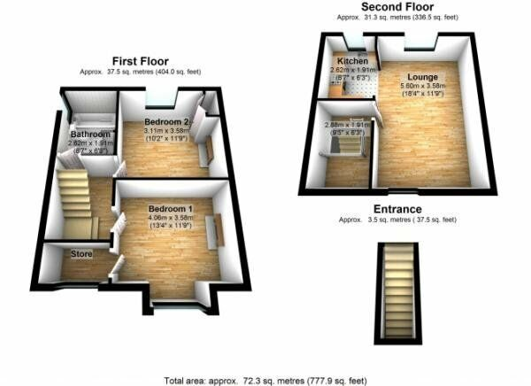 2 BED Conversion - £1,200 call 0208 543 4301 to come view today :-))