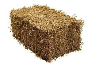 Large bales of straw-garden mulch, dog house or for your ponds