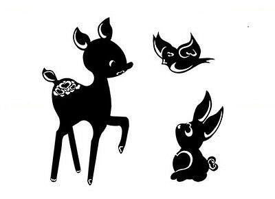Personalised Name Deer Bambi Wall Sticker WS-44259