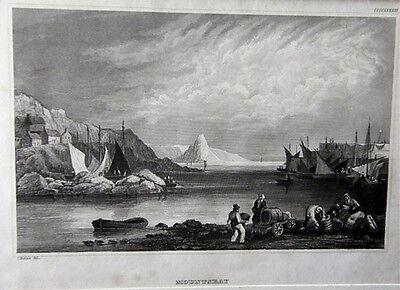 Stahlstich Mountsbay um 1850 (25861)