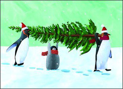 Penguin Tree - Allport Box of 15 Christmas Cards