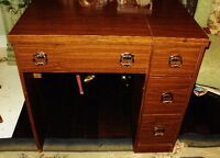 SEWING MACHINE TABLE wood 3 Drawer