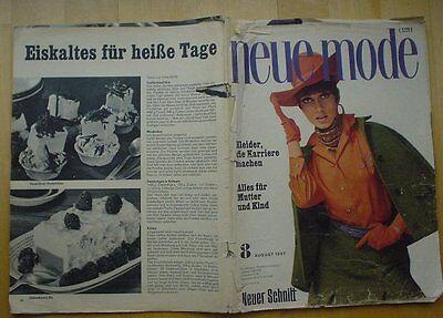Neue Mode 1967/08 w/Burda Hosenanzüge Mutter + Kind Umstandsmode Kostüm 60er - 60er Mode Kostüm