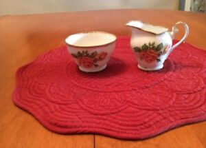 ROMANY ROSE CREAM AND SUGAR BY ROYAL STANDARD