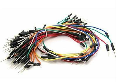 65pcs Male To Male Solderless Breadboard Jump Cable Wires --us Shipping