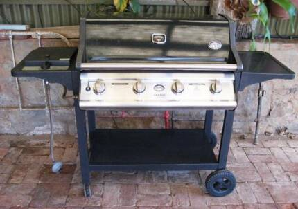 5 burner barbeque, Jackaroo Grange SS series.