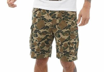 SUPERDRY CORE LITE RIPSTOP MENS CARGO CAMO SHORTS SIZE L LARGE CAMOUFLAGE