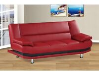 EXCLUSIVE LEATHER SOFA BED ONLY £199 RRP £450