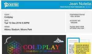 1 Coldplay ticket at sydney - Allianz stadium Balmain Leichhardt Area Preview