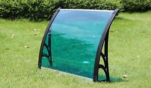 Polycarbonate Awning for Window & Door House canopy UV protected (MODEL: 190122) 40W×30L(100cm×80cm) Blue