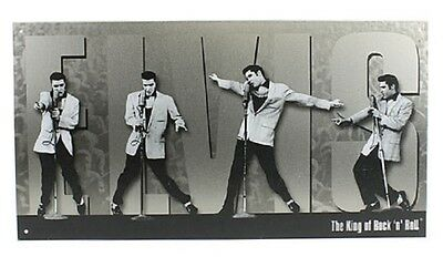 Montage Tin Sign (Elvis King of Rock n Roll Montage TIN SIGN metal poster home bar wall decor 1187 )