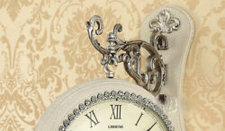 D171 White European Simple Two Sides Plastic 44cm Decoration Wall Clock A