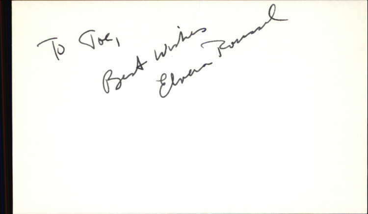 "ELVERA ROUSSEL GUIDING LIGHT Signed 3""x5"" Index Card"