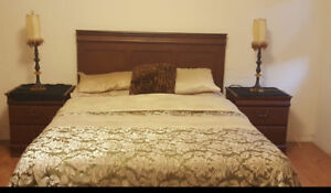 Complete Bedroom Set with Queen Bed, Dresser , 2 side Tables