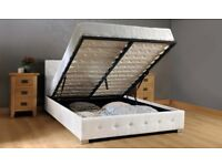 King Size Ottoman Bed with Mattress New in Box