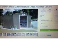 10x10 Apex metal shed