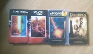 Stark trek & lord of the rings VHS tapes