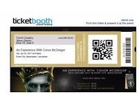 An Experience With Conor McGregor tickets x 3