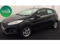 ONLY £144.58 PER MONTH BLACK 2013 FORD FIESTA 1.2 ZETEC 5 DOOR PETROL MANUAL