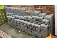 Brand new over 600 (12 square metres) 200mm x 100mm and 60mm thick Charcoal Grey block paving.