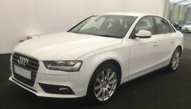 White AUDI A4 SALOON 1.8 2.0 TDI Diesel SPORTS LINE FROM £57 PER WEEK!