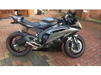 Yamaha r6 registered in 2014, 63 plate alarm and trackking matte grey, great condition bargain