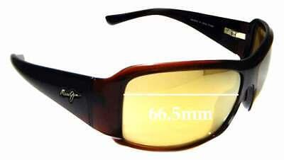 SFx Replacement Sunglass Lenses fits Maui Jim MJ255 Nine Palms - 66.5mm (Maui Jim Nine Palms)