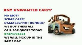 we are buying any car no mot damage. Call for instant qoute