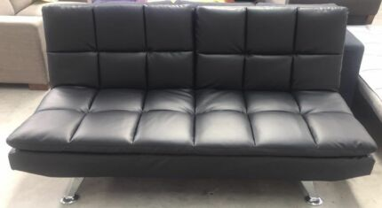 Brand New Black PU Sofa Bed High Quality