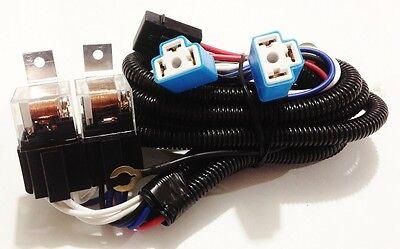 "H4 Headlight Relay Wiring Harness 2 Head Lamp Systems Fix Dim Lights 7"" Round* 6"