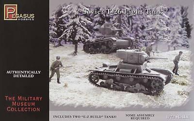 NEW Pegasus Hobbies 1/72 Soviet T-26 Tanks 7671