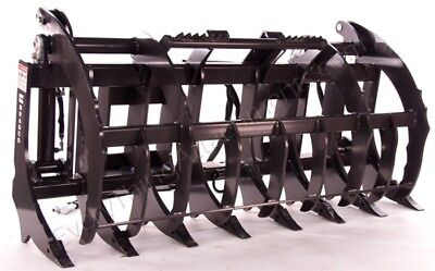 Bradco 72 Root Rake Grapple Universal Skid Steer Mount