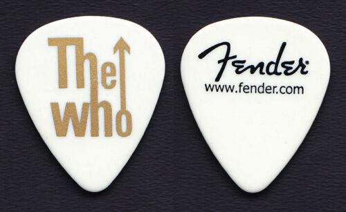 The Who Pete Townshend White Fender Guitar Pick #2 - 2014-2016 Who Hits 50! Tour