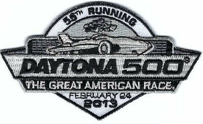 2013 Daytona 500 Racing Patch Vintage Embroidered Iron On