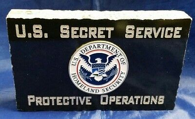 U.S. Secret Service Protective Operations w Full Color DHS Emblem  Black Marble