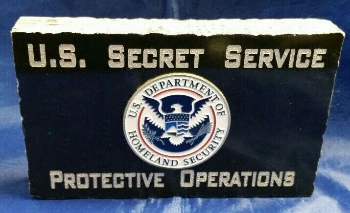 USSS Secret Service Protective Operations Color Homeland Emblem Black Marble 4X6