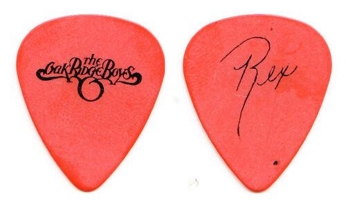 Oak Ridge Boys Rex Wiseman Signature Orange Guitar Pick - 2006 Tour