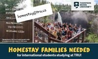 HOMESTAY families NEEDEDA this SUMMER! Remuneration provided.