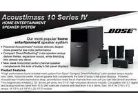 Bose Acoustimass 10 Series IV Speakers + Marantz Surround Sound Power Amp